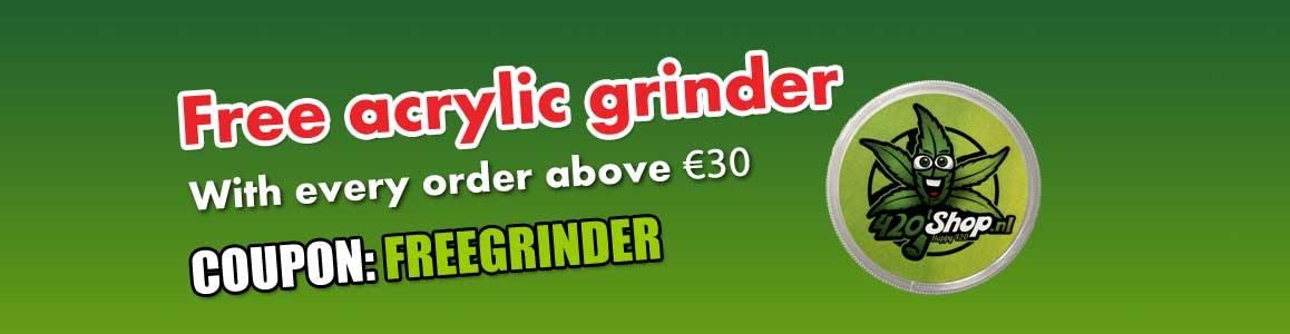 Free 420 Acrylic Weed Grinder