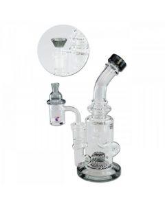 Recycle Bubbler Bong Blaze Glass