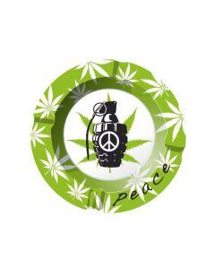Metal Ashtray Cannabis Peace