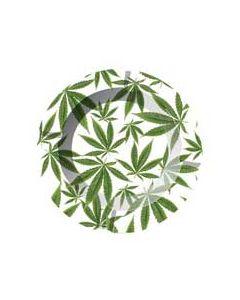 Asbak Cannabis Bladeren