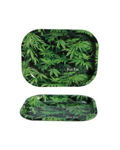 Joint Rolling Tray Black Leaf