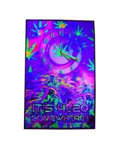 Blacklight Poster It's 4:20 Somewhere