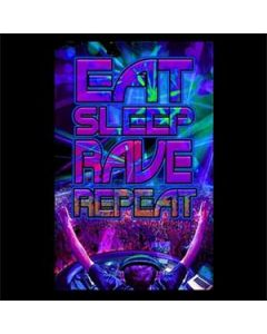 Blacklight Poster Eat Sleep Rave