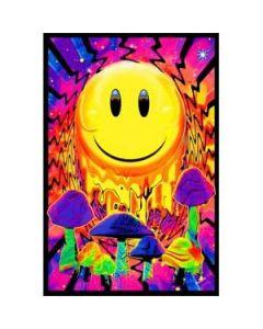 Trippende Smiley Blacklight Poster
