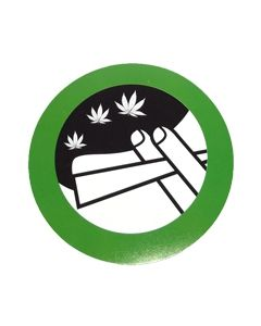 Smoking Weed Allowed Sticker