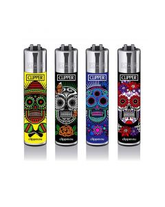 Clipper Lighter Mexican Skull