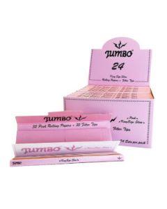 Jumbo Roze Vloei en Filtertips