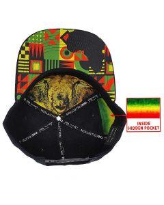 Lionheart Rasta Snapback Cap