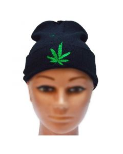 Hat with Weed Leaf