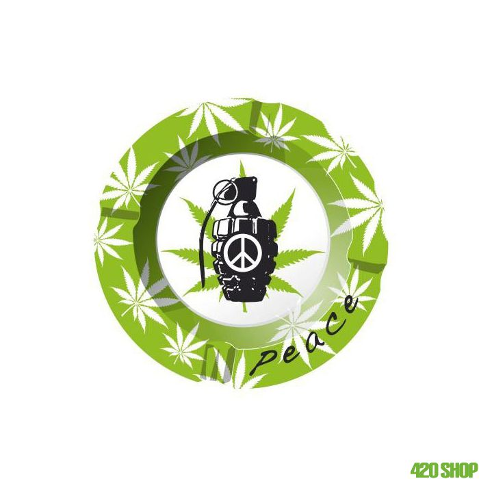 Metal Ashtray Cannabis Peace