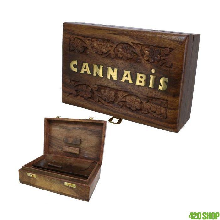 Houten Cannabis Roldoos