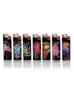 BIC Lighter Neon Animals