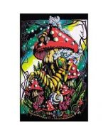 Blacklight Poster Mushroom Caterpilar