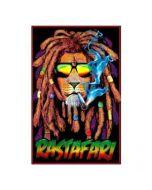 Blacklight Poster Rasta Leeuw