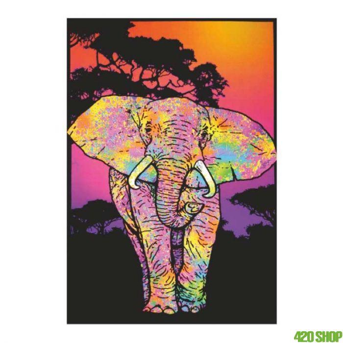 Blacklight Poster African Elephant