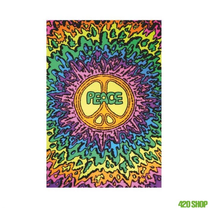 Psychedesliche Blacklight Poster Peace